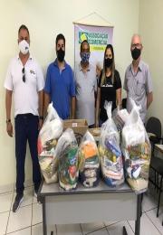 ACII, Rotary e grupo Mãos Dadas realizam arrecadação de alimentos.